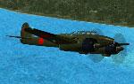 Screenshot of Nakajima Night Fighter, Type-11 Gekkou in flight.