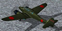 Screenshot of Nakajima Night Fighter, Type-11 Gekkou on the ground.