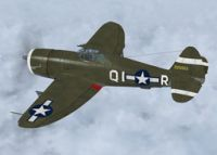 Screenshot of P-47D Razorback KAY-J in flight.