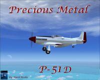 Screenshot of Precious Metal P-51 in flight.
