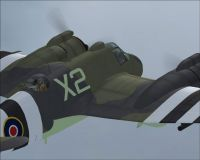 Screenshot of RAAF Bristol Beaufighter NE775 in the air.