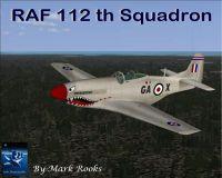 Screenshot of RAF 112th Squadron Desert Rat Mustang in flight.
