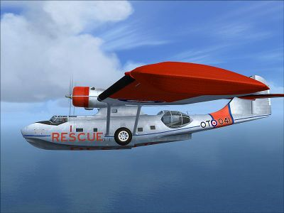 Screenshot of PBY5 Catalina in flight.