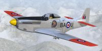 Screenshot of RCAF P-51D Mustang CF-BAU in flight.