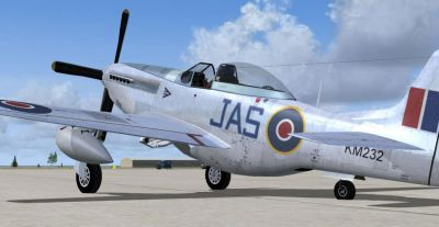 Screenshot of RCAF P-51D on the ground.