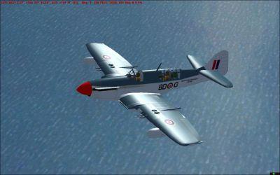 Screenshot of RCN Firefly Mk. V CWH in flight.