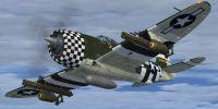 "Screenshot of Republic P-47D-23 ""Eileen"" in flight."