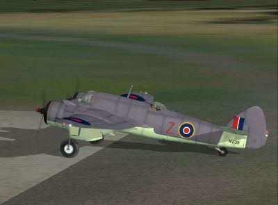 Screenshot of SAAF Bristol Beaufighter on the ground.