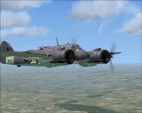 Screenshot of SAAF Bristol Beaufighter in flight.