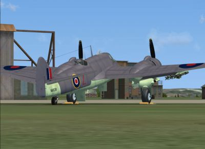 Screenshot of SAAF Bristol Beaufighter on the ground.