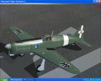 Screenshot of green SAI Ambrosini 207 on the ground.