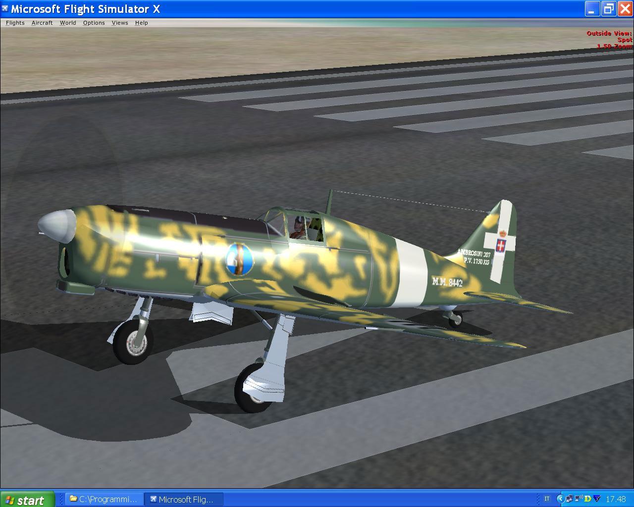 Screenshot of green camo sai ambrosini 207 on the ground