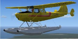 Screenshot of Cessna L-19D with floats.
