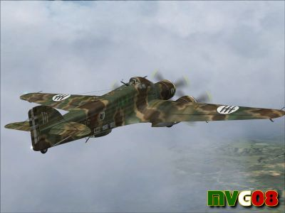 Screenshot of Savoia Marchetti SM.79 Sparviero in flight.