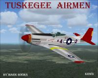 Screenshot of Tuskegee P-51 Mustang in flight.