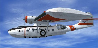 Screenshot of US Coast Guard PBY Catalina in flight.