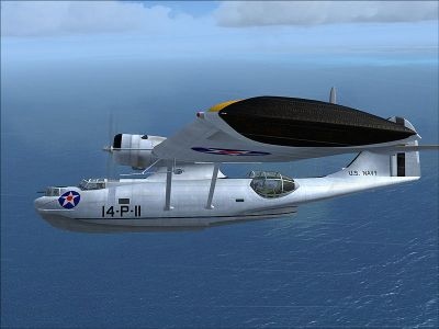 Screenshot of U.S. Navy PBY5 in flight.