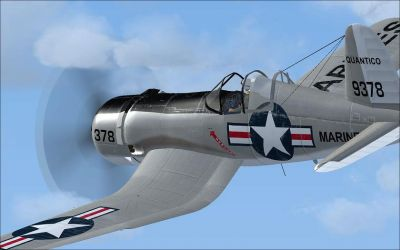Screenshot of Ciel F4U-7 in flight.