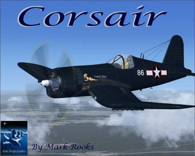 Screenshot of Vought F4U1A Corsair Sweet Dee in flight.