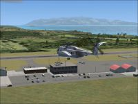 Screenshot of Tanegashima Airport scenery.