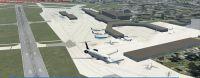 Plane flying over Montreal Pierre-Elliot Trudeau International Airport.