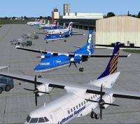 Screenshot of London City Airport, UK.