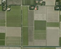 Aerial view of Noordoostpolder, Holland.