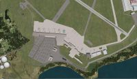 Aerial view of Shannon International Airport.