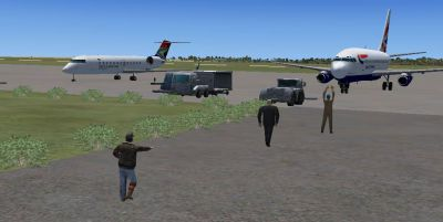 Screenshot of Livingstone International Airport.