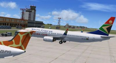 Screenshot of Lusaka International Airport.