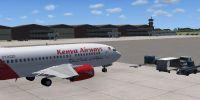 Screenshot of Moi International Airport, Mombasa.
