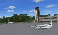Screenshot of Zanzibar International Airport, Tanzania.
