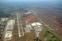 Aerial view of Huntsville International-Jones Airport.