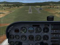 Screenshot of plane approaching TJMZ Airport.