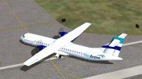 Screenshot of Aer Arann ATR 72-500 taxiing to runway.