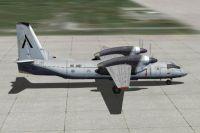 Screenshot of Aer Caribe Antonov An-32 on the ground.