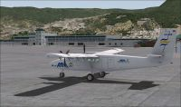 Screenshot of DH6 Twin Otter on the ground.