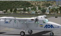 Screenshot of Aerolinea de Antioquia DH6 Twin Otter on the ground.