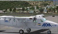 Screenshot of Aerolinea de Antioquia DH6 Twin Otter on the ground.