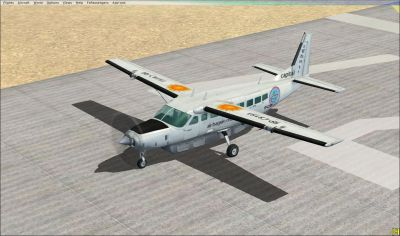 Screenshot of Air Baguio Cessna 208B Grand Caravan on runway.