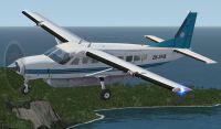 Screenshot of Air Milford Cessna 208 ZK-SKB in flight.