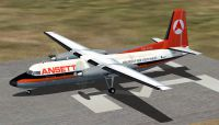Screenshot of Air NSW Fokker F27-200 on the ground.