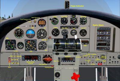 Virtual cockpit of Air Saguenay DeHavilland DHC3.