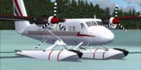 Screenshot of Air Tindi DeHavilland DHC6-300 on floats.