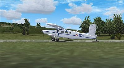 Screenshot of Alat Pilatus PC-6C Turbo Porter on the ground.