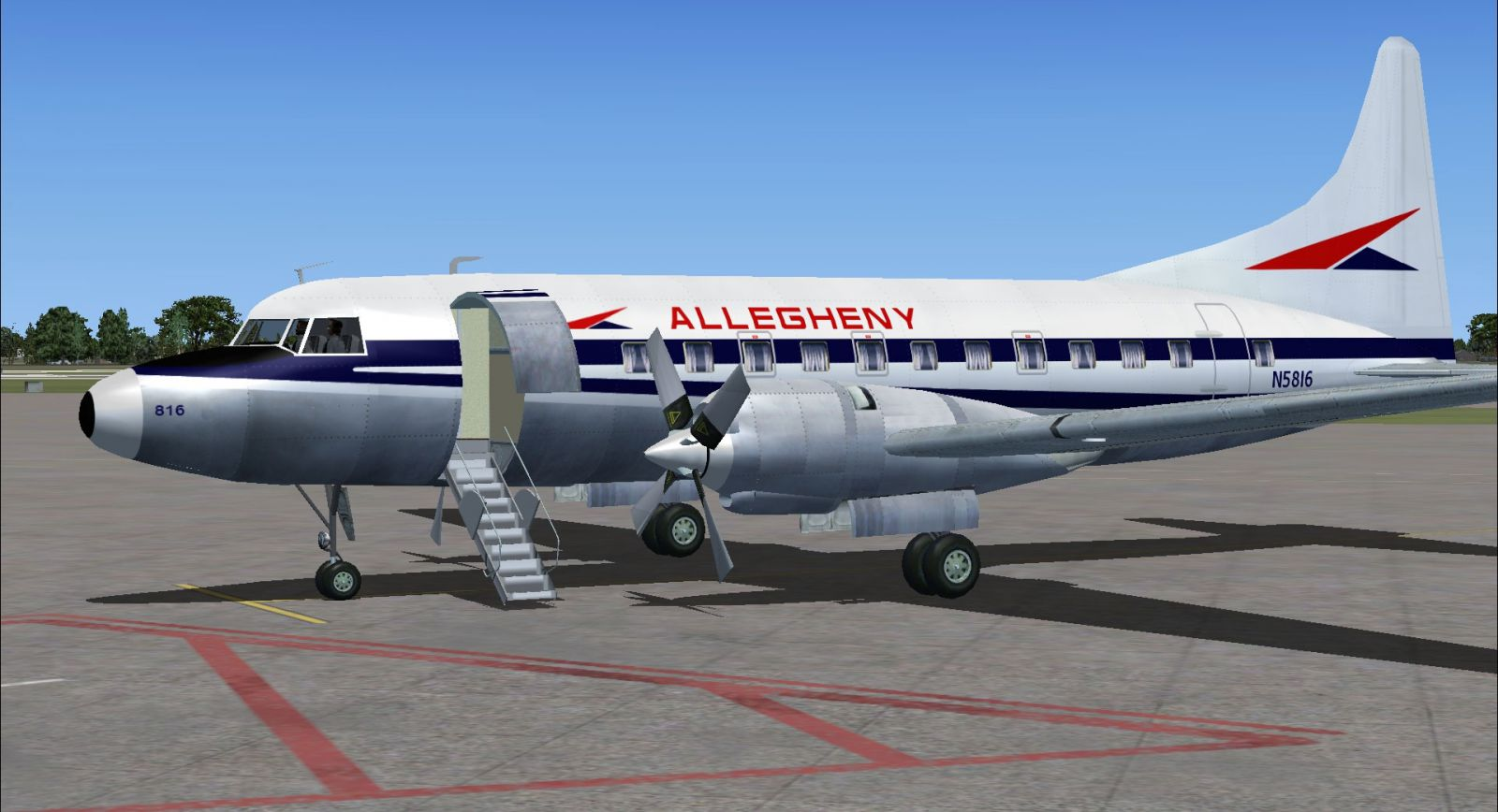 allegheny convair 580 for fsx