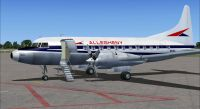 Screenshot of Allegheny Convair 580 on the ground (left side).