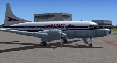 Screenshot of Allegheny Convair 580 on the ground (right side).