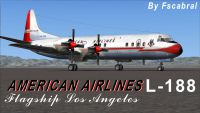 Screenshot of American Airlines Lockheed L-188 Electra on the ground.