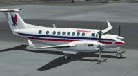 Screenshot of American Eagles Beechcraft King Air 350 on the ground.